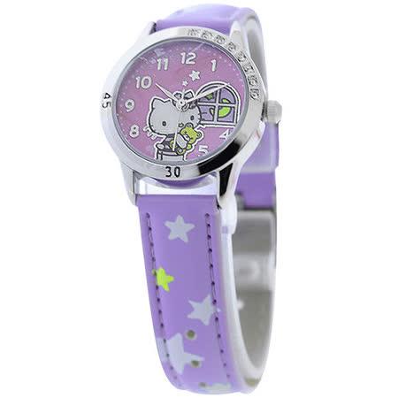 Hello Kitty 午夜冒險晶鑽腕錶-紫