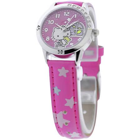 Hello Kitty 午夜冒險晶鑽腕錶-桃紅
