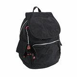 【Kipling】BASIC系列 前方口袋蓋式後背包 黑色 K-374-2147-899