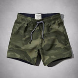 A&F 2014男時尚簡緻綠迷彩色泳褲 【預購】