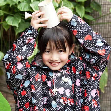 【rainstory雨衣】愛心熊兒童連身雨衣