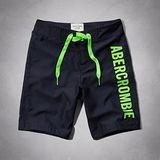 A & F 2014男時尚品味標誌貼布寶藍色泳褲【預購】