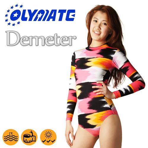 OLYMATE Demeter 連身抗UV長袖女性泳裝