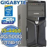技嘉B85平台【旋風奪鐮】Intel第四代i5四核 GT740-1G獨顯 500GB燒錄電腦