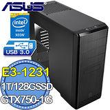 華碩H97平台【戒天戰魂】Intel Xeon E3四核 GTX750-1G獨顯 SSD 128G燒錄電腦