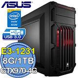 華碩H97平台【魔魂海賊】Intel Xeon E3四核 GTX970-4GD5獨顯 1TB燒錄電腦