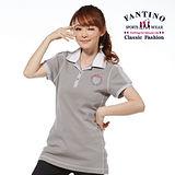 【FANTINO】專櫃品牌新品_修身螺紋立領上衣(白、灰) 271143-144