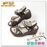 【G.P】時尚精美水鑽楔型女鞋~G9188W-30(咖啡色)共二色