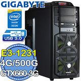 技嘉H97平台【破突天襲】Intel Xeon E3四核 GTX660-3G獨顯 500GB燒錄電腦