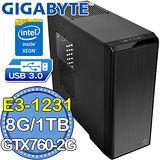 技嘉H97平台【天耀聖使】Intel Xeon E3四核 GTX760-2G獨顯 1TB燒錄電腦