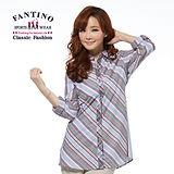 【FANTINO】純棉長板斜紋上衣(灰) 274139