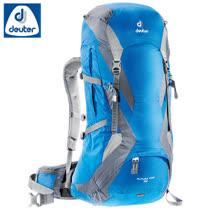 【德國 Deuter】Futura Pro 42L 網架直立式透氣背包.登山健行背包.自助旅行包/34294 藍/灰