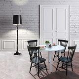 (時尚風情) 3.5尺白色圓型餐桌椅組 (一桌四椅/V型餐椅)