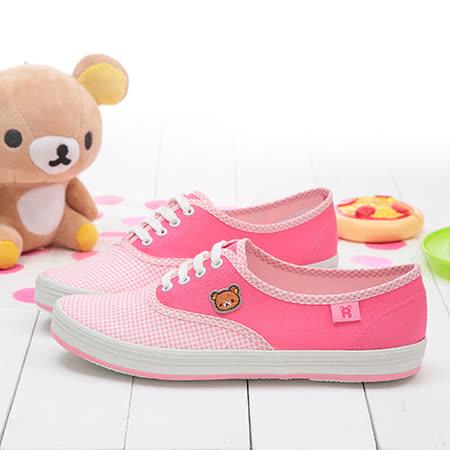 【童鞋城堡】拉拉熊懶懶熊經帆布休閒鞋KM8239