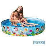 【INTEX】免充氣幼童戲水游泳池 (直徑152cm) (56451)