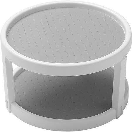 《MADESMART》雙層旋轉調味架(白25cm)