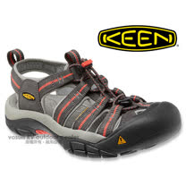 【美國 KEEN 】女新款 NEWPORT H2 專業護趾涼鞋/水陸兩用鞋.沙灘鞋.安全鞋_深灰/橘紅 1010955