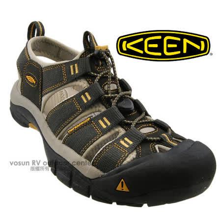 【美國 KEEN 】男新款 專業護趾涼鞋/水陸兩用鞋.沙灘鞋.安全鞋_深灰/黃 1008399