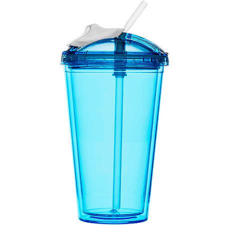 《SAGAFORM》鮮飲吸管冷水杯(藍)