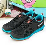 【男】DIADORA 輕量慢跑鞋 台灣製造 EASY RUN 黑藍 9190