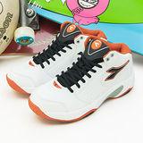 【男】DIADORA 中筒籃球鞋 經典基本款 白橘 7353