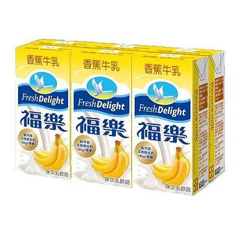 福樂香蕉牛乳200mlx6