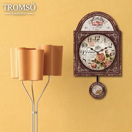 TROMSO無框畫時鐘-戀家玫瑰(鐘擺)