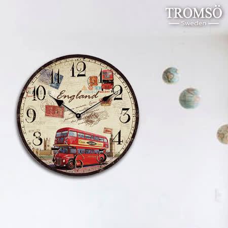 TROMSO無框畫時鐘-倫敦巴士(圓形)