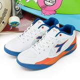 【男】DIADORA 專業籃球鞋 新科技貼合款 白橘藍 9363