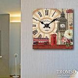 TROMSO無框畫時鐘-鐘塔旅程(方形)