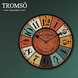 TROMSO無框畫時鐘-羅馬城鎮(圓形)