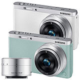 SAMSUNG NXF1 mini 9mm + 9-27mm雙鏡組(公司貨)-加送32G記憶卡+原廠電池+專用座充+HDMI+中腳架+防潮箱+清保組+讀卡機+桌上型小腳架+吹球拭鏡筆清潔組