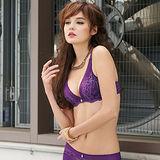 【曼黛瑪璉】V極線性感內衣  B-D罩杯(狂野紫)
