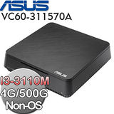 ASUS華碩 VIVO PC VC60 Intel i3-3110M雙核 迷你電腦(VC60-311570A) (無系統)
