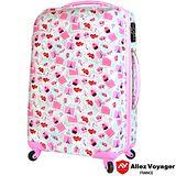 【法國 奧莉薇閣】20吋粉紅派對PC輕量鏡面 登機/行李箱(巴黎鐵塔)