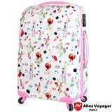 【法國 奧莉薇閣】20吋粉紅派對PC輕量鏡面 登機/行李箱(都會粉領)