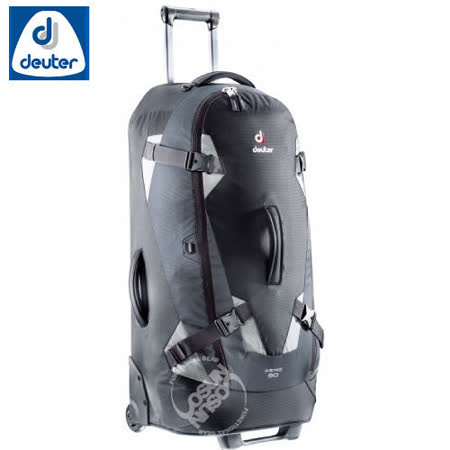 【德國 Deuter】Traveller Xeno90 90L 34吋自助旅行背包.直立式拉捍行李箱/35752 黑/灰