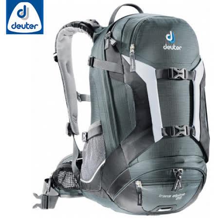 【德國 Deuter】Trans Alpine 25 自行車網架透氣背包.旅遊休閒背包.登山背包.雙肩後背包/32203 深灰/黑