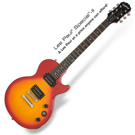 【Epiphone】Les Pau電吉他經典入門款 櫻桃紅(Special II)