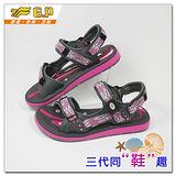 [GP]親子同樂系列-織帶設計磁釦涼拖兩用鞋 G9118W-45(桃紅色)共有三色
