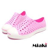 (現貨+預購) 【Miaki】馬卡龍色系糖果平底包鞋洞洞鞋懶人鞋 (粉色)