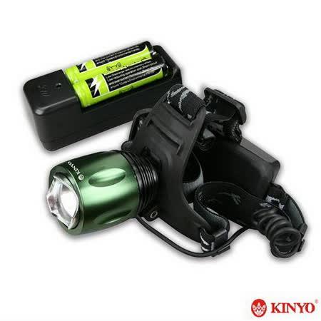 【KINYO】800流明鋁合金LED頭燈(LED618)