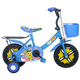 【Adagio】12吋酷寶貝童車附置物籃(藍)~台灣製造