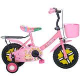 【Adagio】12吋酷寶貝童車附置物籃(粉紅)~台灣製造