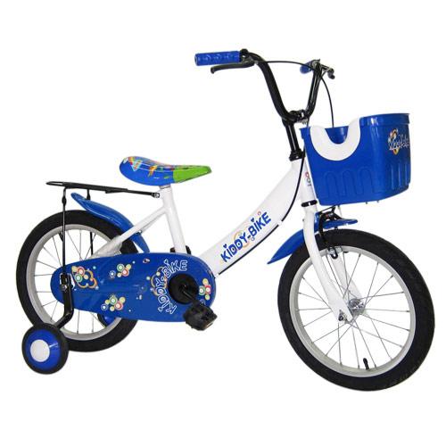 Adagio 16吋大頭妹童車附置物籃(藍)~台灣製造    (BE0005B)