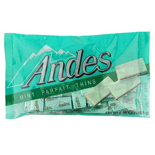安迪士Andes巧克力薄片~雙薄荷口味165g