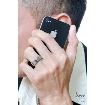 leger日本羽鈦《純真年代》純鈦戒指-大尺寸版