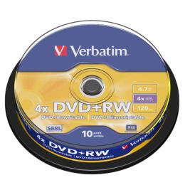 威寶Verbatim 4X DVD+RW 4.7GB 10片