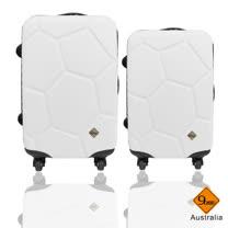 Gate 9 經典世紀足球系列ABS輕硬殼行李箱28+24吋
