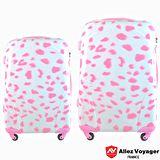 【法國 奧莉薇閣】20+24吋粉紅派對PC輕量鏡面兩件組登機/行李箱